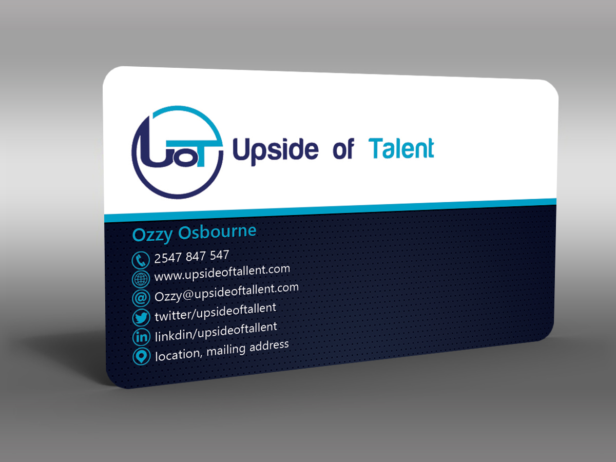 Modern Upmarket Business Consultant Business Card Design