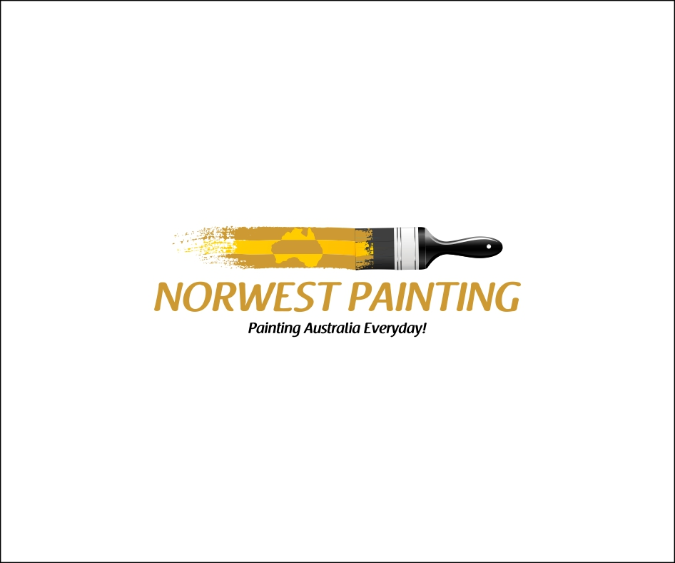 Modern professional logo design for norwest painting by for Painting and decorating logo ideas