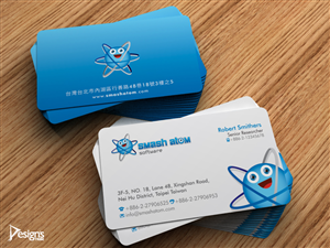 Playful modern games stationery design for smash atom software by more stationery designs from mobile androidiphone game studio needs stationary design and a business card reheart Gallery