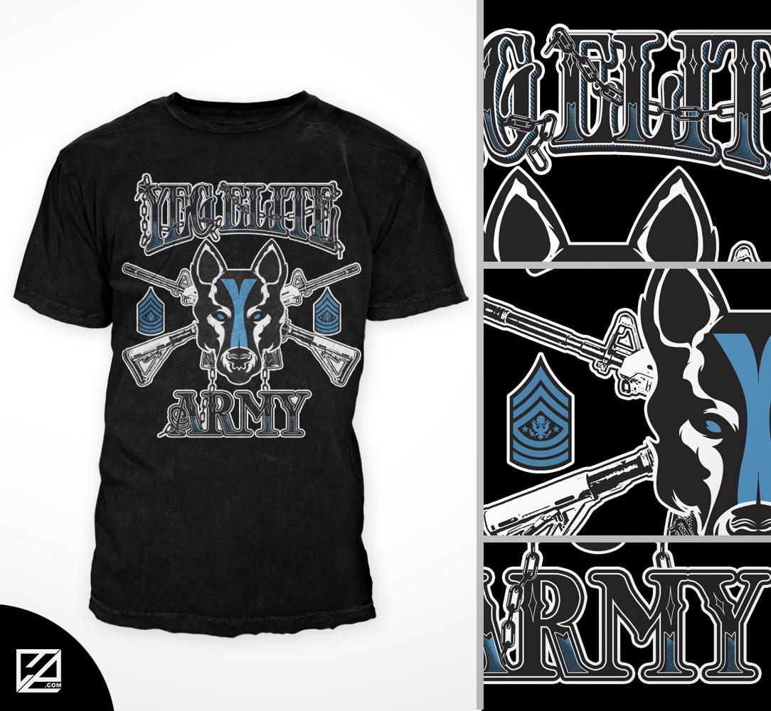 Modern Bold Fitness T Shirt Design For Yeg Elite By