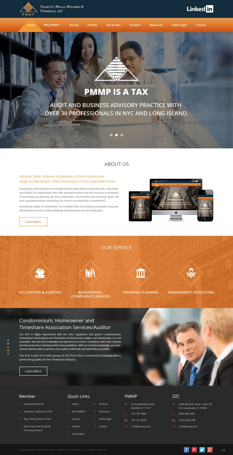 Serious Elegant Accounting Web Design For A Company By Pb Design 9406131