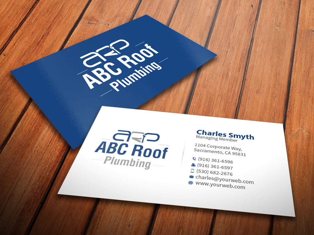 Business Business Card Design for ABC roof plumbing by ...