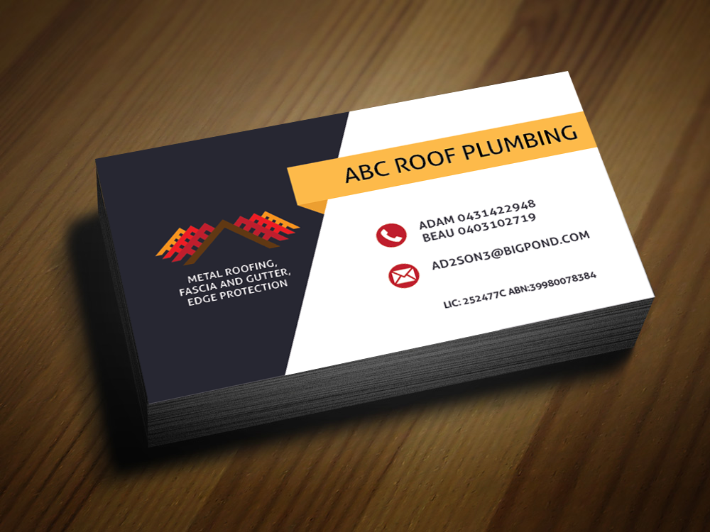 Business Business Card Design for ABC roof plumbing by MAdhusAnkA ...