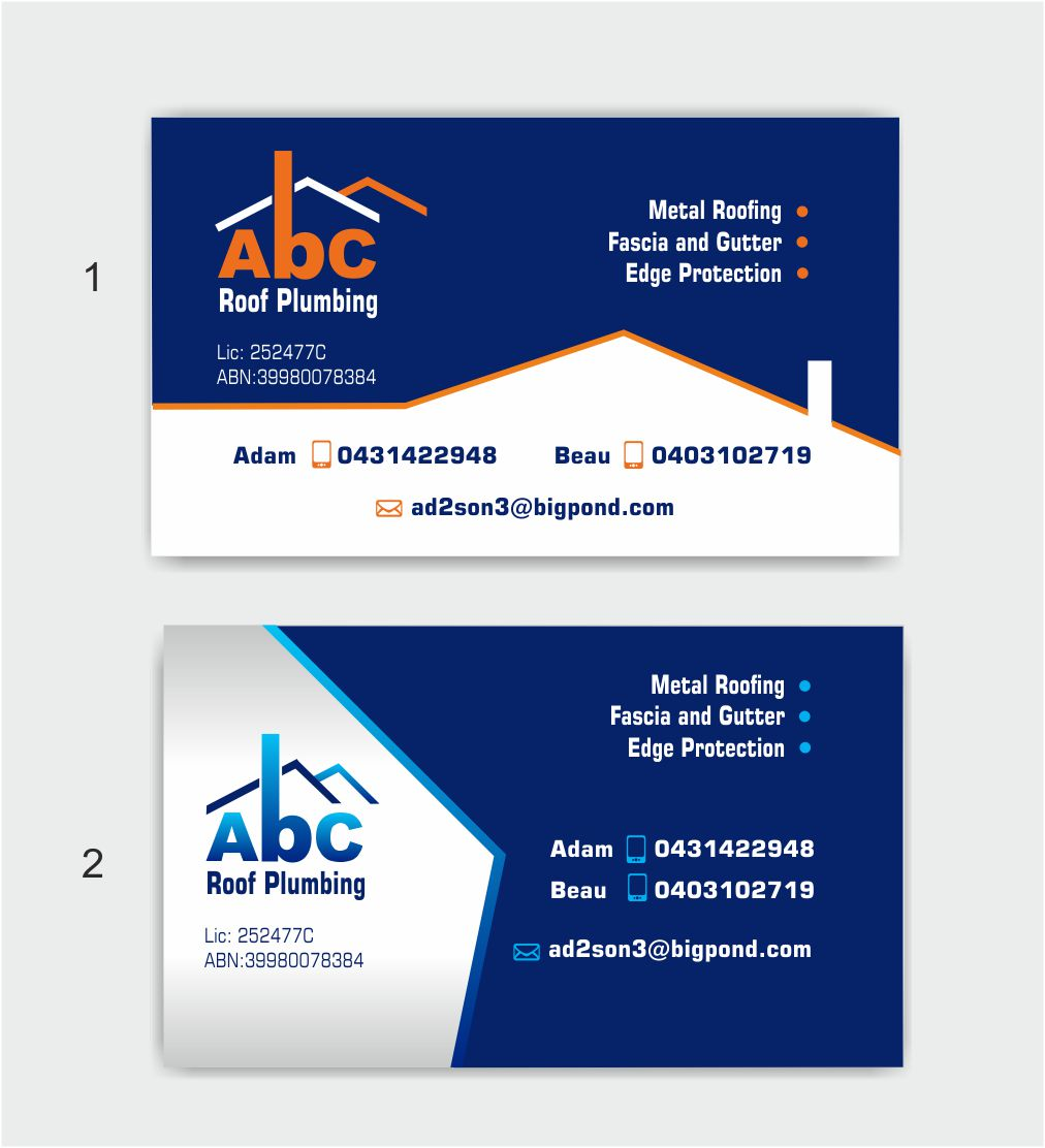 Business Business Card Design for ABC roof plumbing by IneseRo ...
