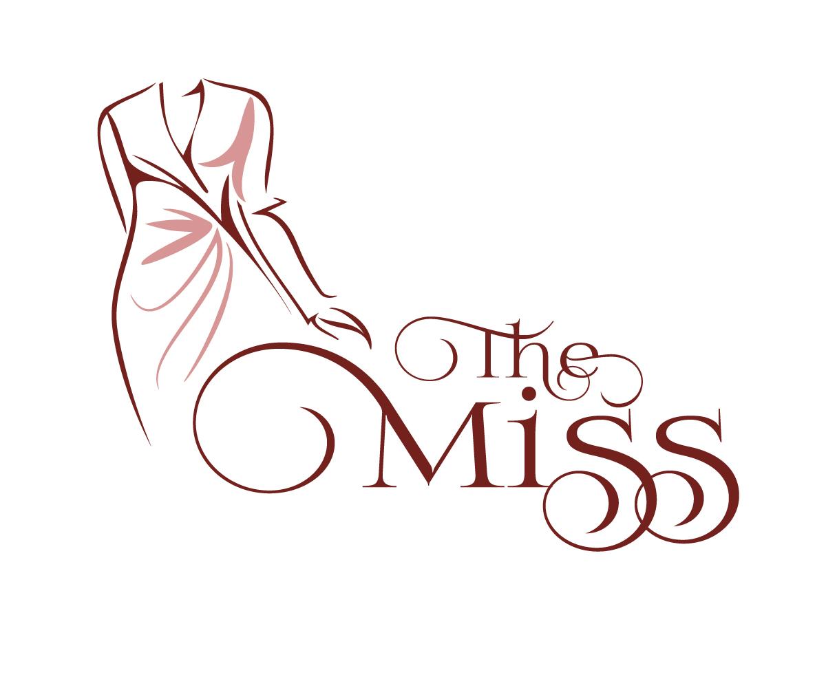 feminine elegant business logo design for the miss by