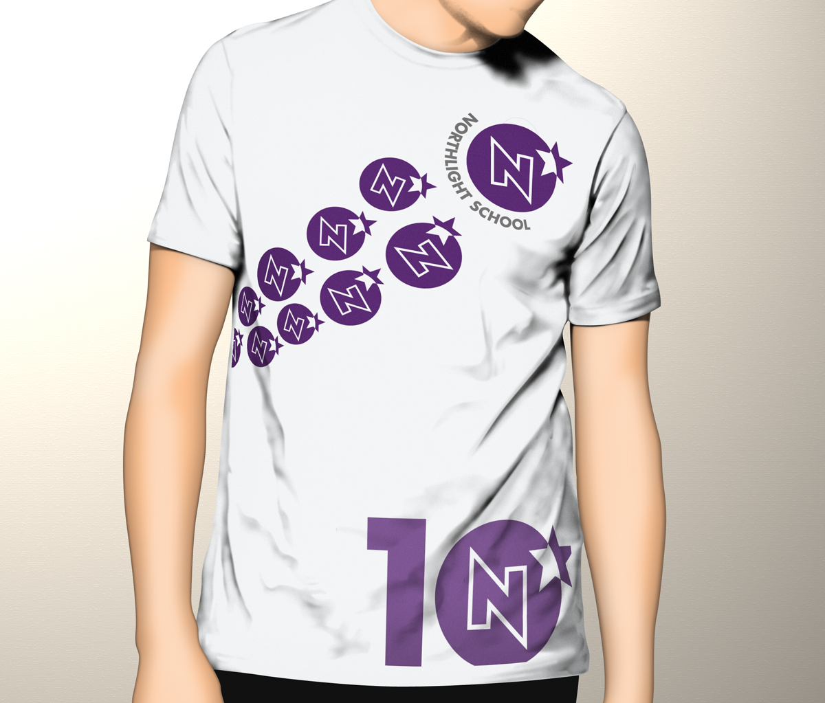 Modern colorful education t shirt design for northlight for T shirt design for education