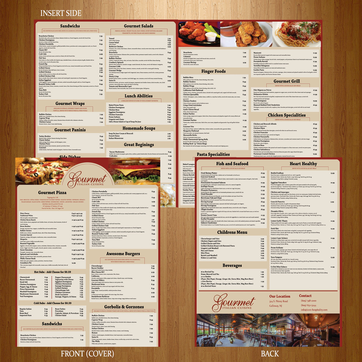 Elegant serious restaurant menu design for a company by