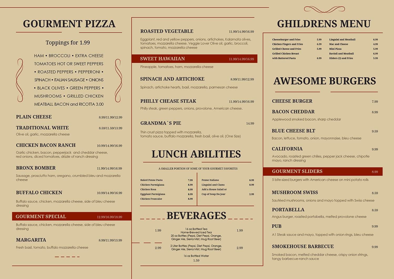 elegant serious restaurant menu design for a company by dii