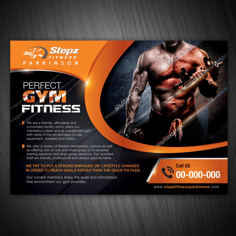Elegant, Playful, Fitness Flyer Design for Stepz Fitness