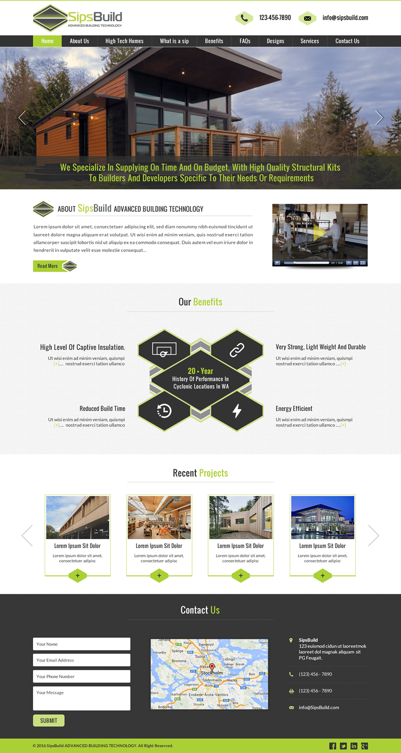 Serious professional building web design for perth web for Professional building designer