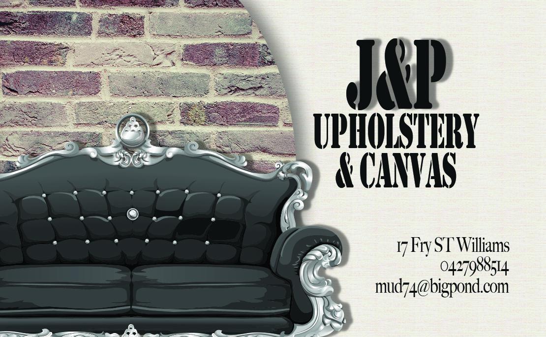 Elegant, Playful, Business Business Card Design for JP UPHOLSTERY ...