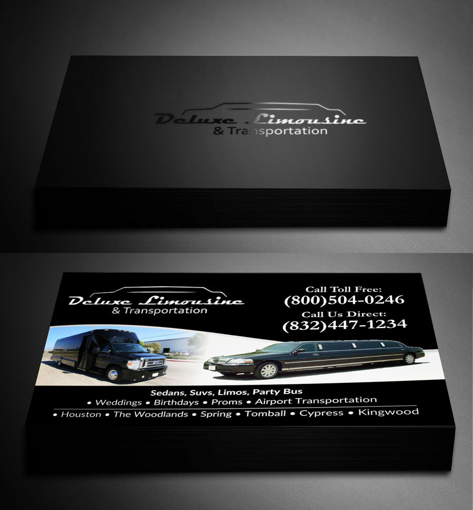 Bold professional business business card design for 5 diamond business card design by poonam gupta for 5 diamond transportation limo design 9597622 colourmoves Images
