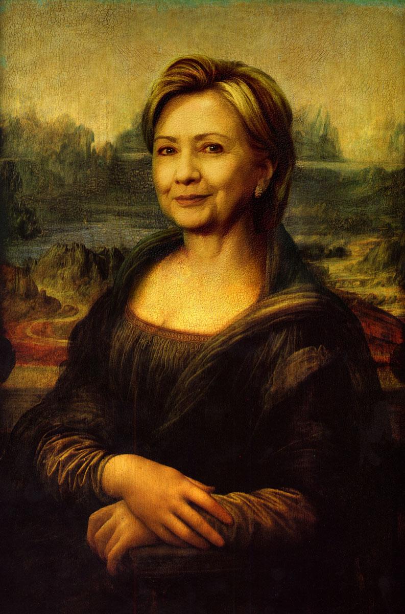 Hillary Clinton as the Mona Lisa