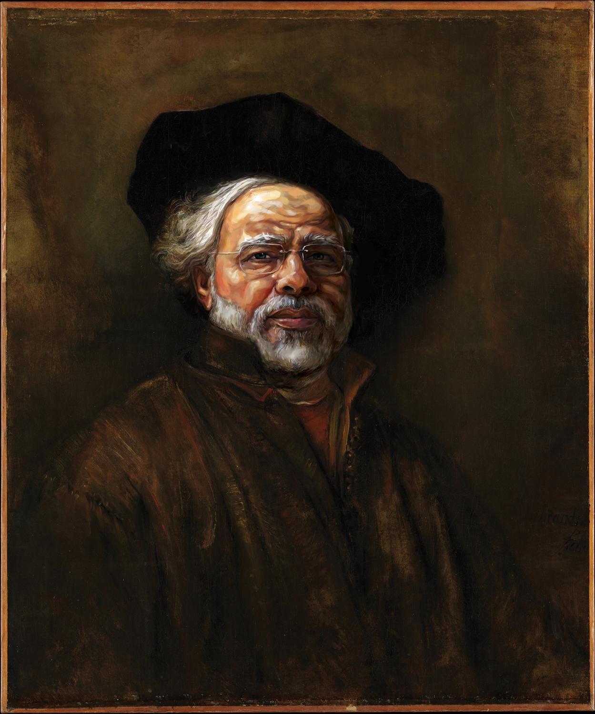 Narendra Modi as the famous Dutch portrait painter Rembrandt