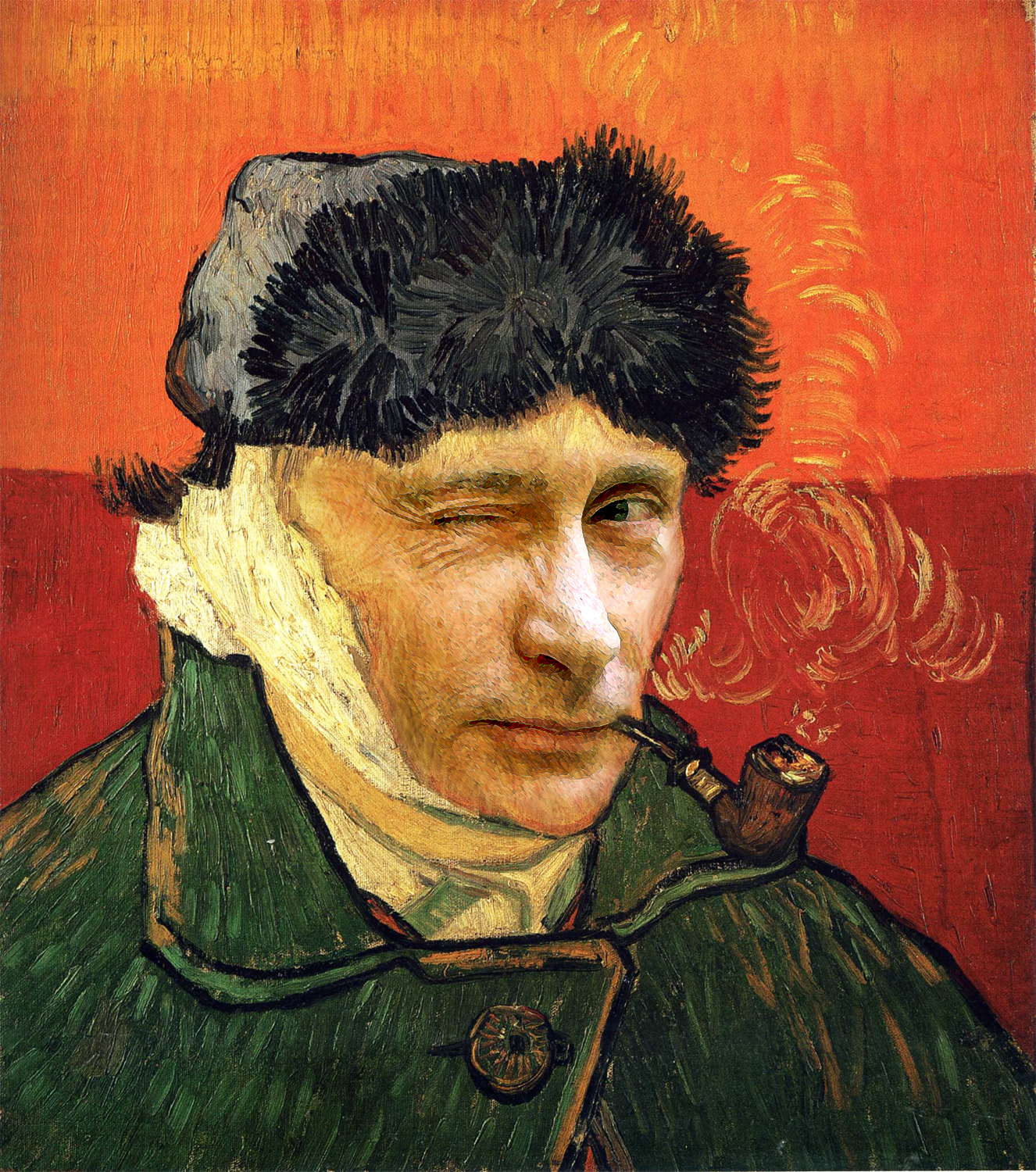 Vincent van Gogh and Vladimir Putin