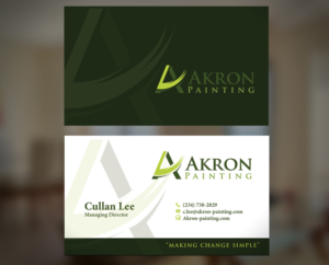 business card for akron painting business card design by creativmindsja - Painting Business Cards