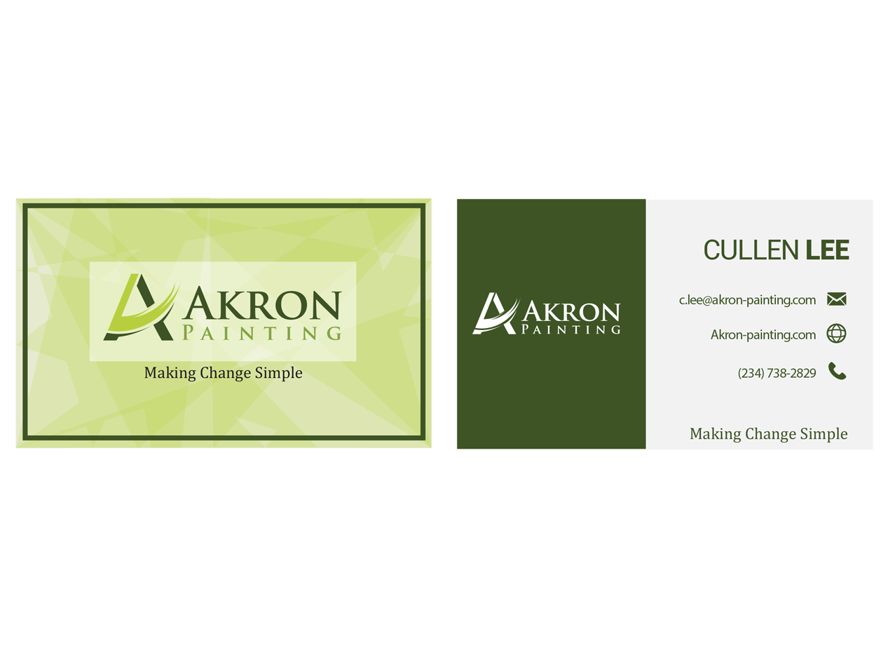 Upmarket, Conservative, Painting Business Card Design for a Company ...