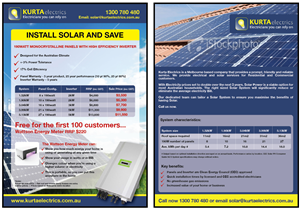 Flyer Design by i4 Graphics Pty Ltd - Flyer Design for Electrical and Solar Services ...