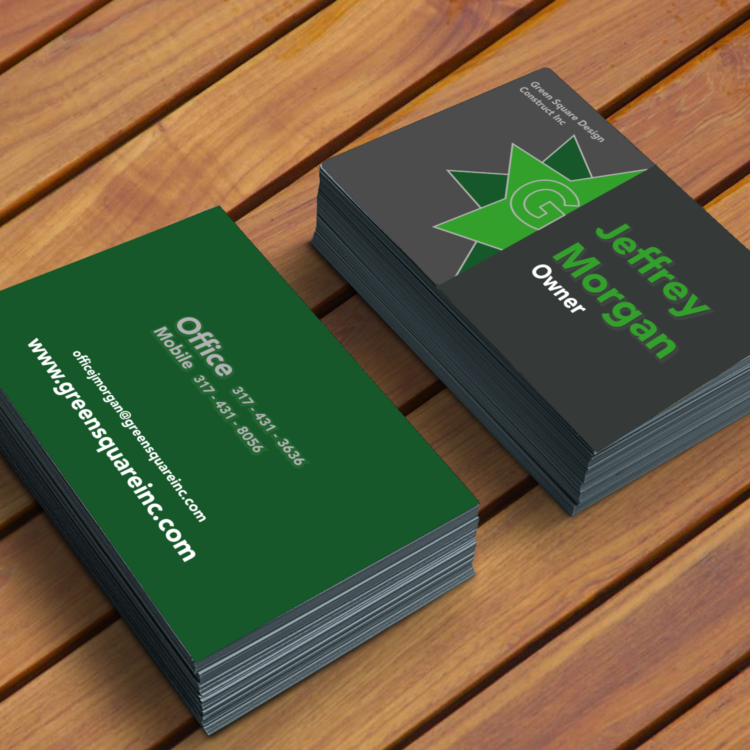 Modern, Upmarket, Architecture Business Card Design for Green Square ...