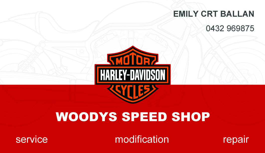Business Business Card Design for woodys speed shop by technapp ...