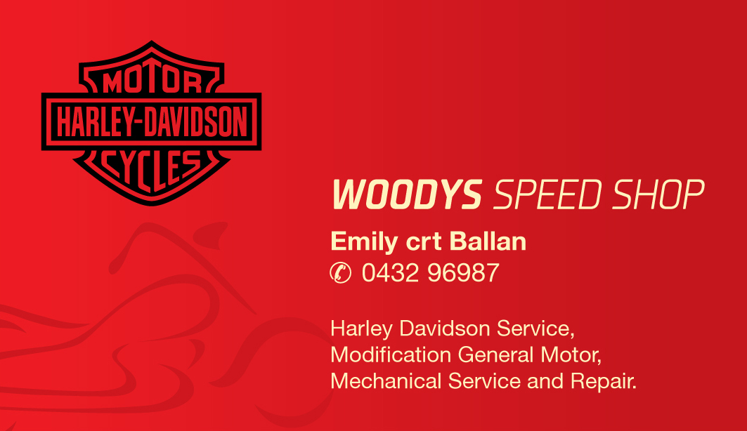 Business Business Card Design for woodys speed shop by Orangecult ...
