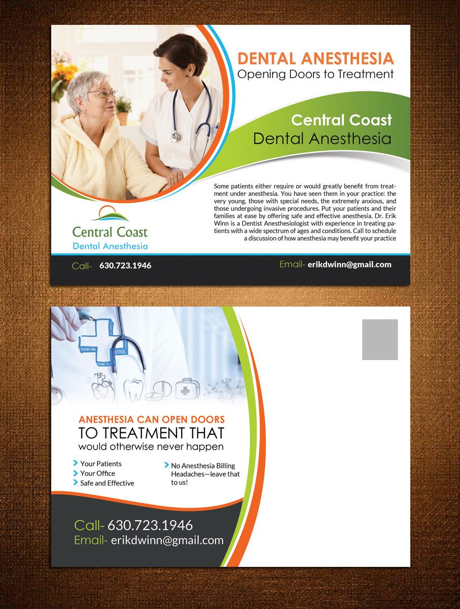 Dental Postcard Design for Central Coast Dental Anesthesia