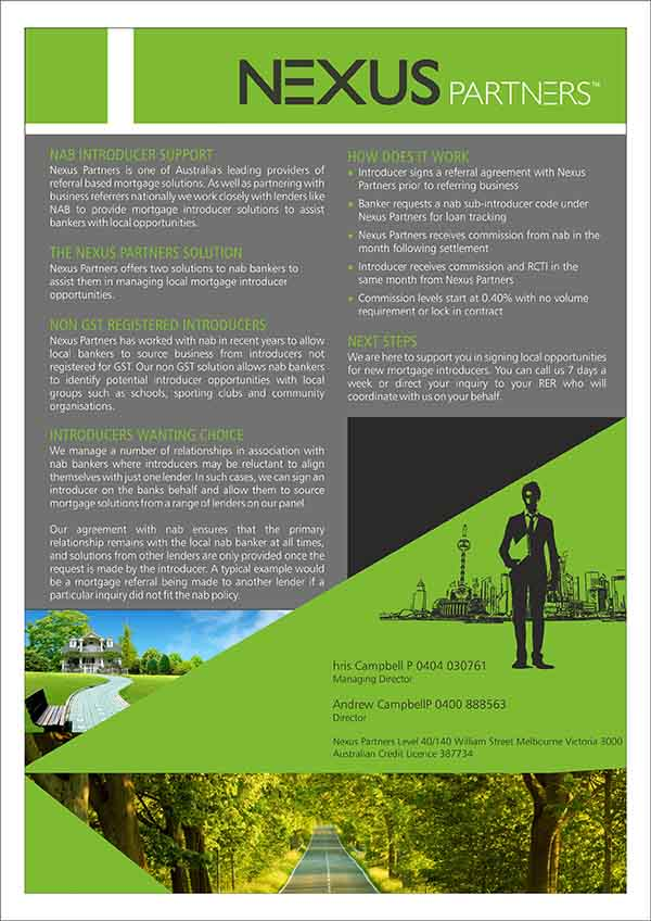 Elegant, Playful, Finance Brochure Design for Nexus Partners by ...