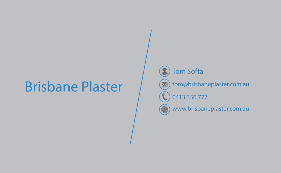 Elegant, Playful, Business Business Card Design for Brisbane Plaster ...