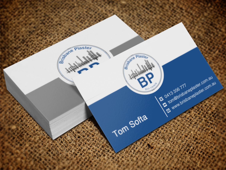 Elegant playful business business card design for brisbane plaster business card design by creation lanka for brisbane plaster pty ltd design 9452481 reheart Images
