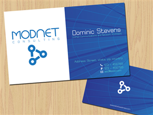 Business Card Design job – Modnet Consulting – Winning design by LV Design Studios