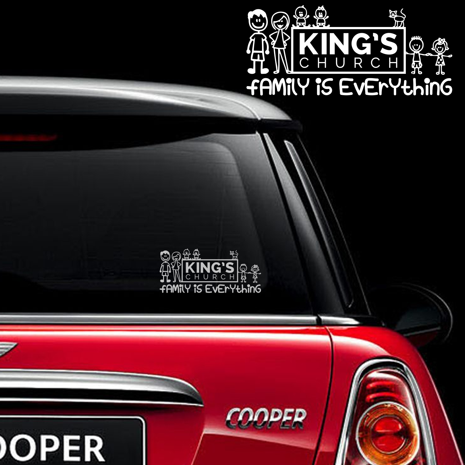 Sticker designs for car - My Church Family Rear Window Car Sticker