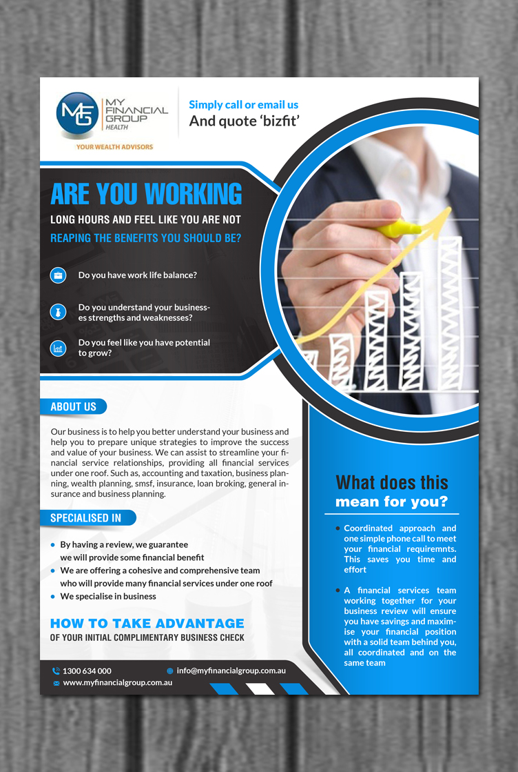 Accounting Flyer Design For A Company By Creative Bugs