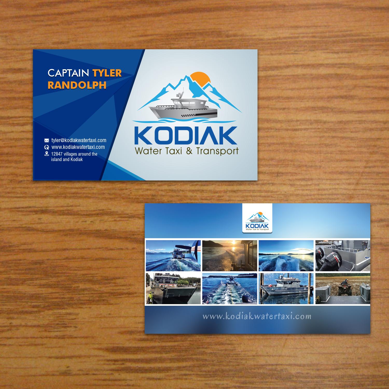 Design De Carte Visite Audacieux Moderne Business Pour Kodiak Water Taxi And Transport En Aux United States