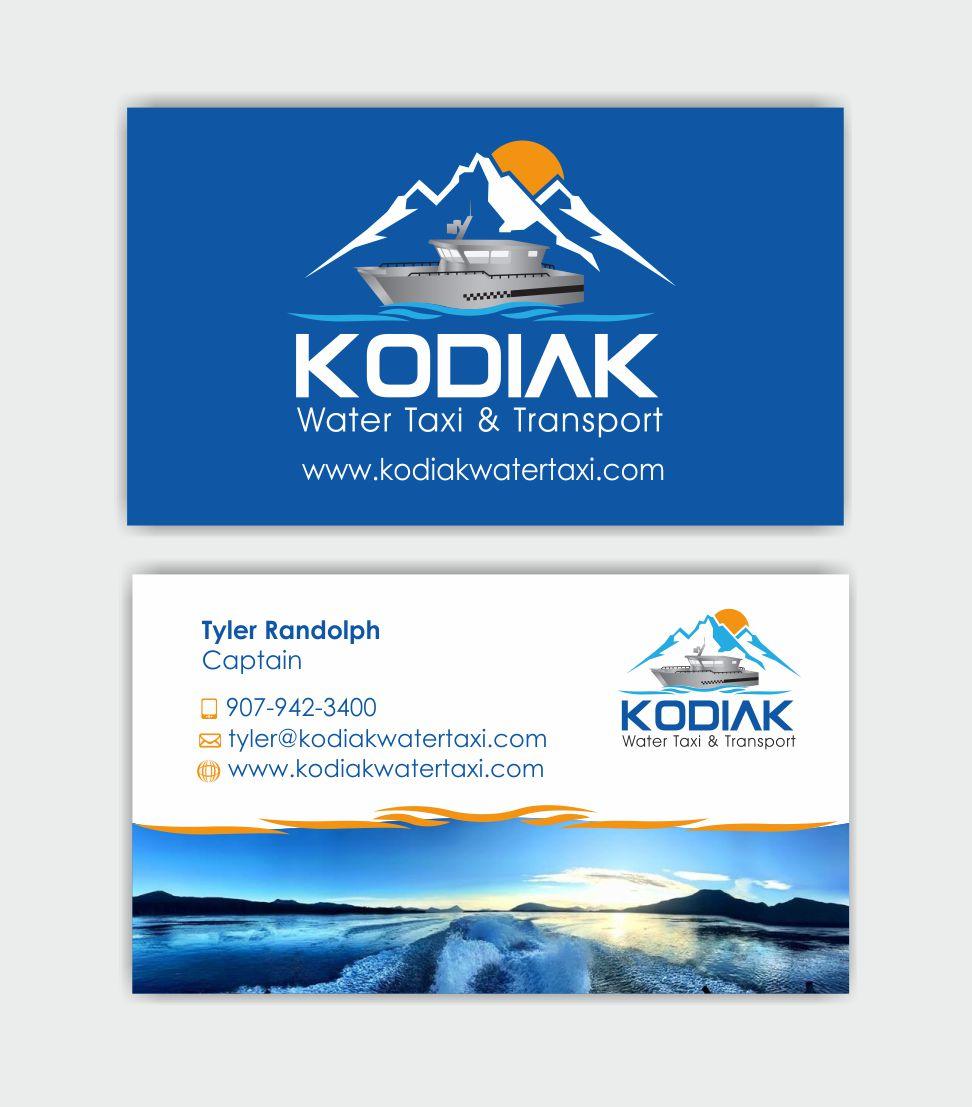 Bold modern business business card design for kodiak water taxi bold modern business business card design for kodiak water taxi and transport in united states design 9498017 colourmoves