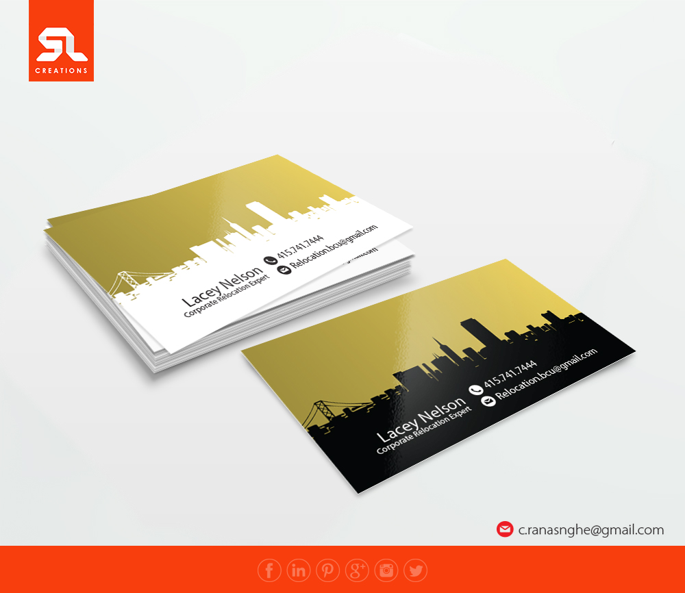 Upmarket elegant business card design for sf treasure chest by sl business card design by sl creations for san francisco corporate relocation liason design 9494069 reheart Choice Image