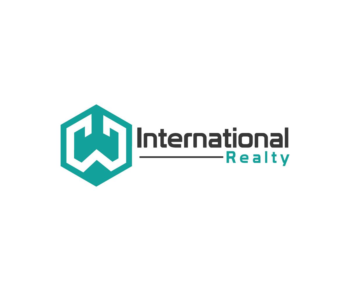 Real estate logo design for w international realty by for International design company