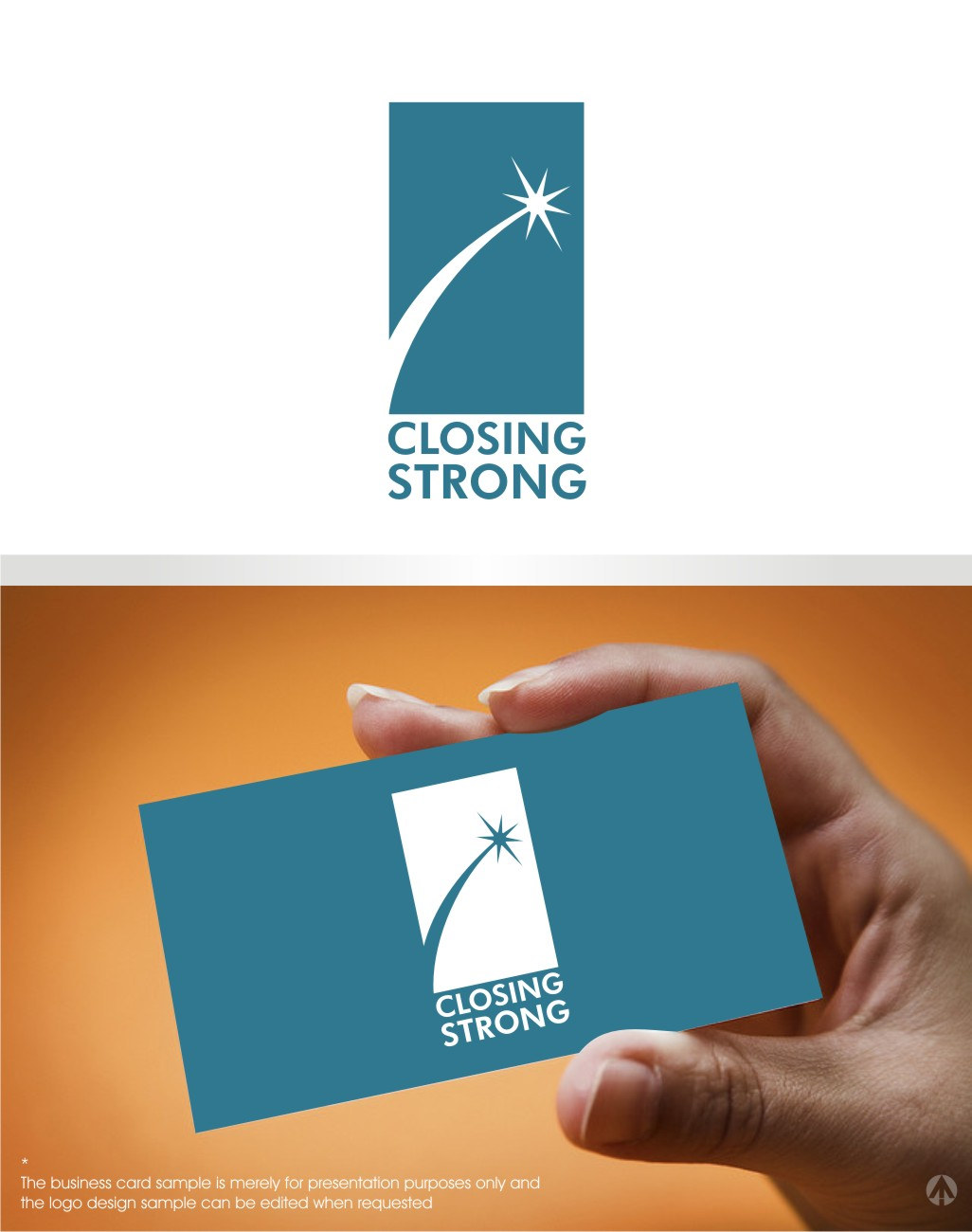 Serious modern business logo design for closing strong or closing logo design by mbaro for closing strong llc design 9499524 reheart Images