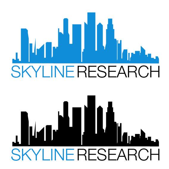 upmarket, modern logo design for skyline research llcfryimages