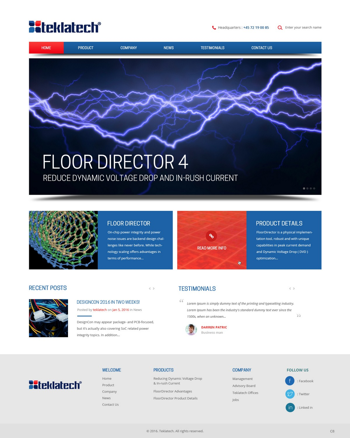Masculine serious web design for a company by pb design for Masculine web design