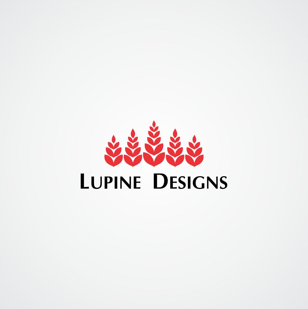 K M Designs upmarket playful logo design for lupine designs limited by