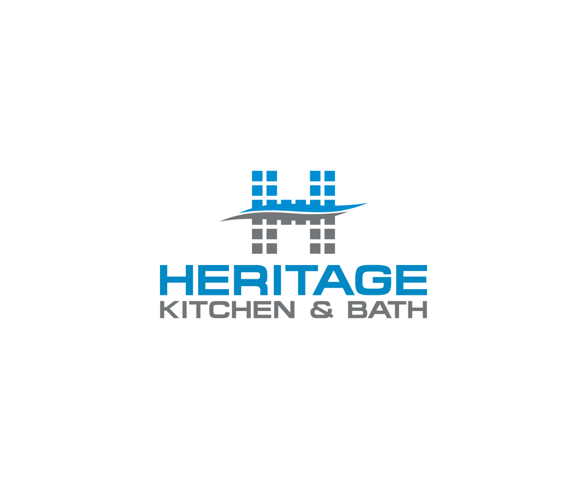 Construction Logo Design For Heritage Kitchen & Bath By