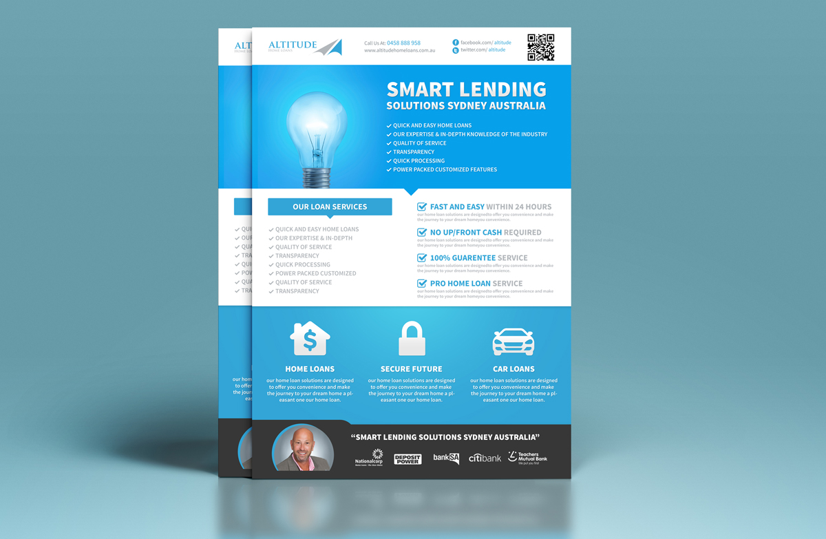 modern professional finance flyer design for a company by