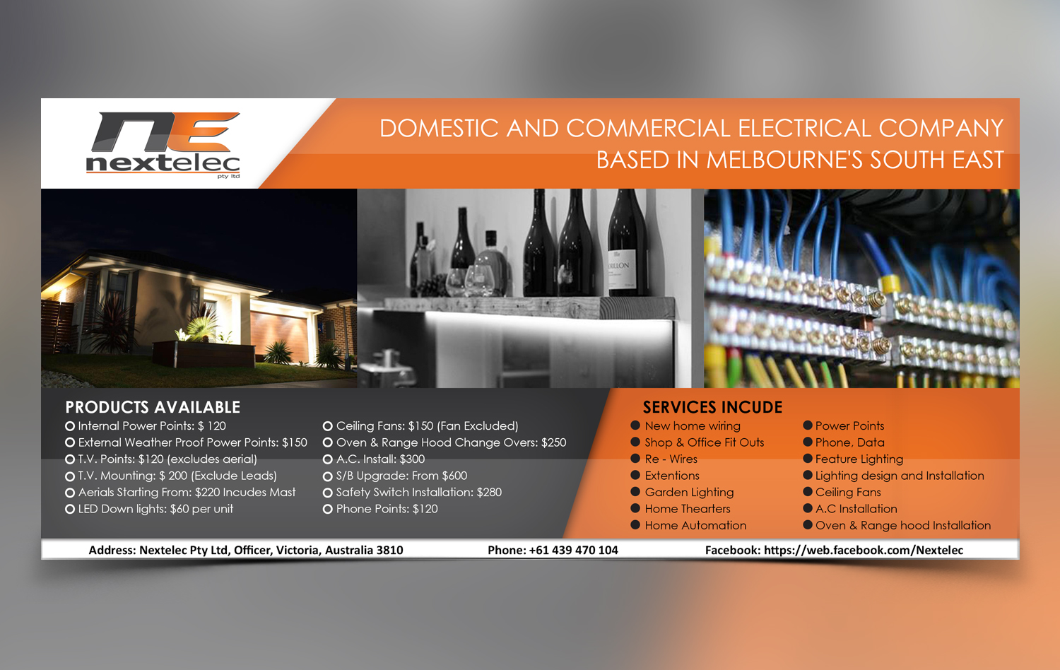 Business Flyer Design For A Company By Dhanush Designer House Wiring Logo In Australia 9736274