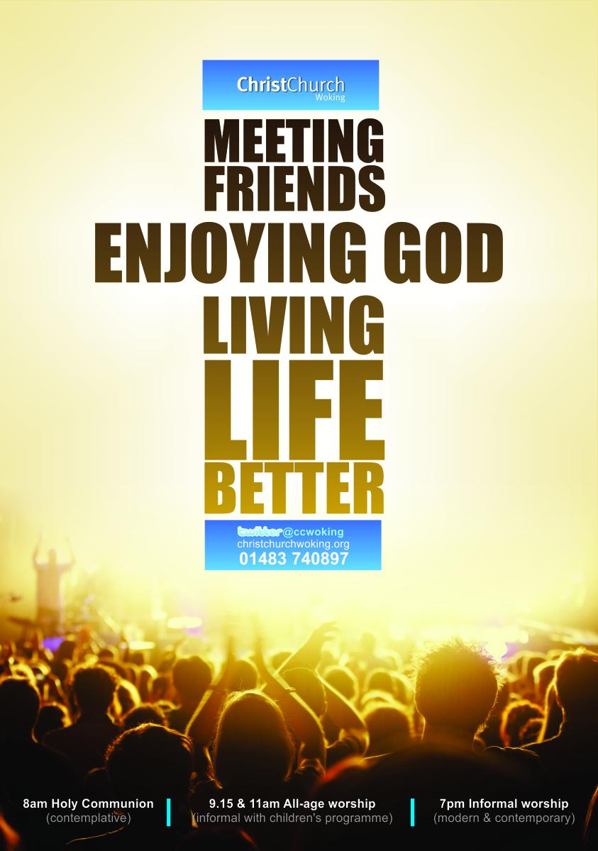 Upmarket Modern Poster Design For Christ Church By