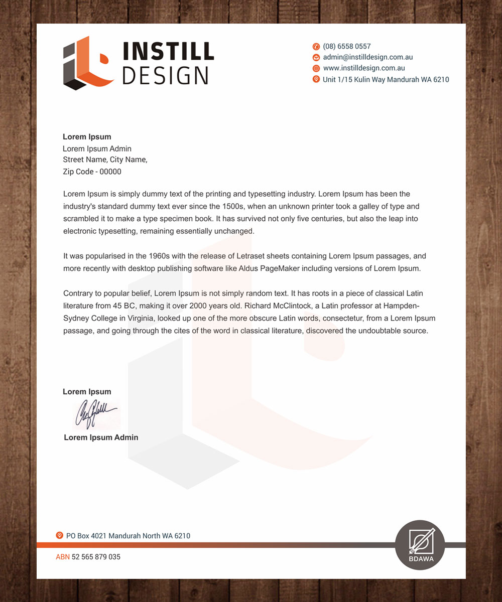 making company letterhead