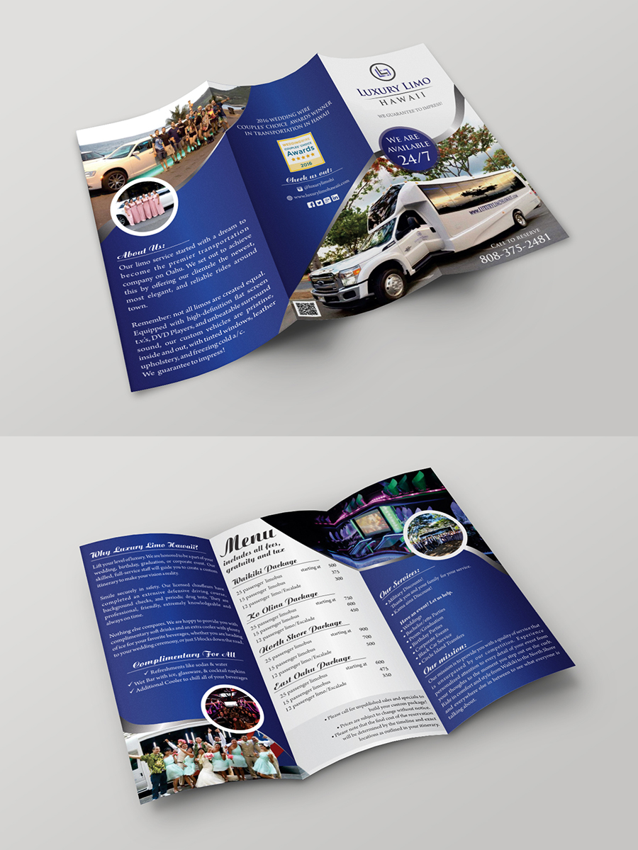 Flyer Design For Luxury Limo Hawaii By Ecorokerz