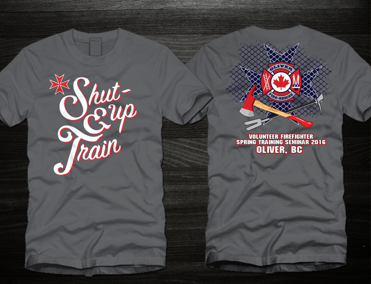 Masculine Bold Fire Department T Shirt Design For A Company By