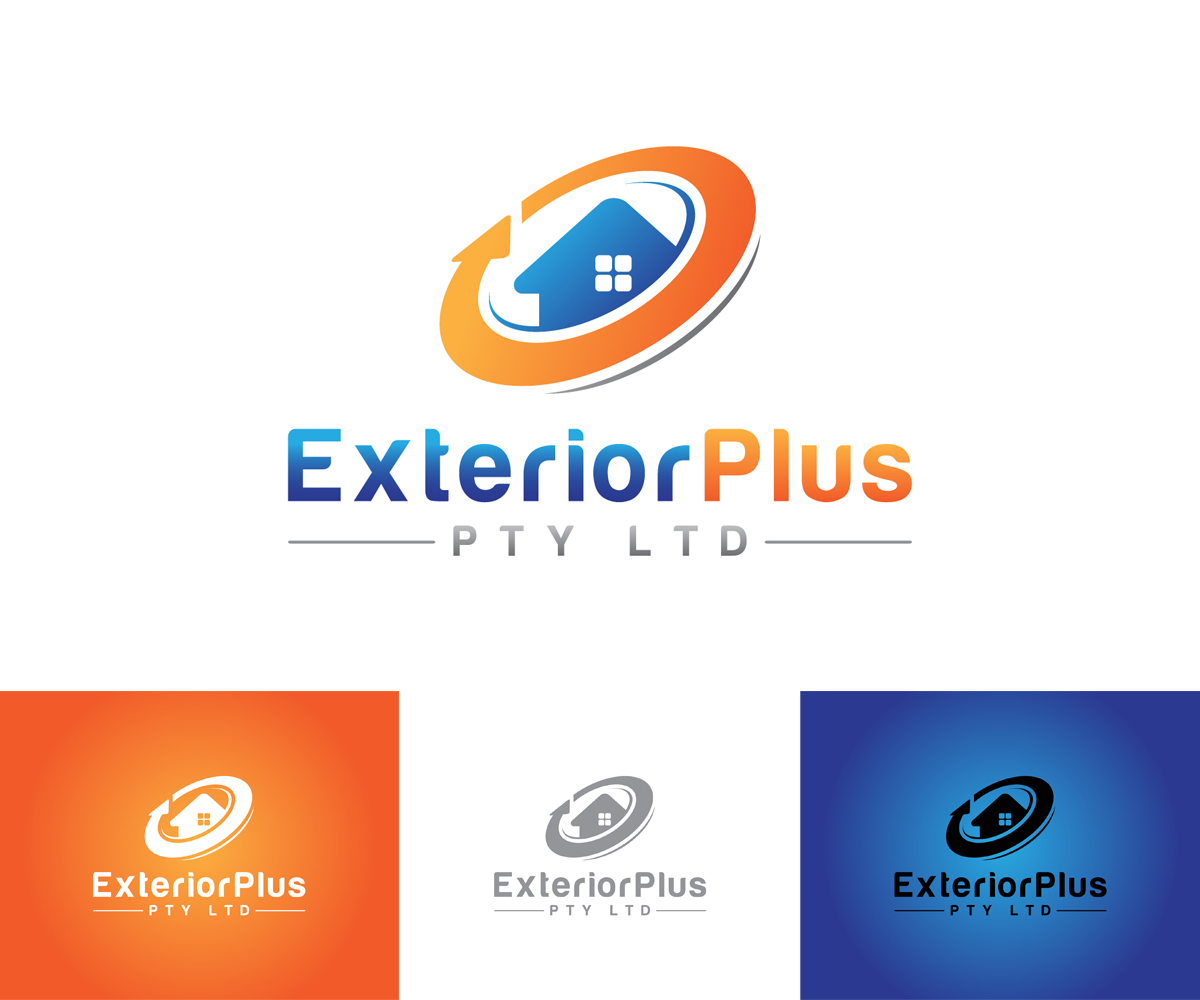 Elegant, Playful, House Logo Design For Exterior Plus In Australia   Design  2107494