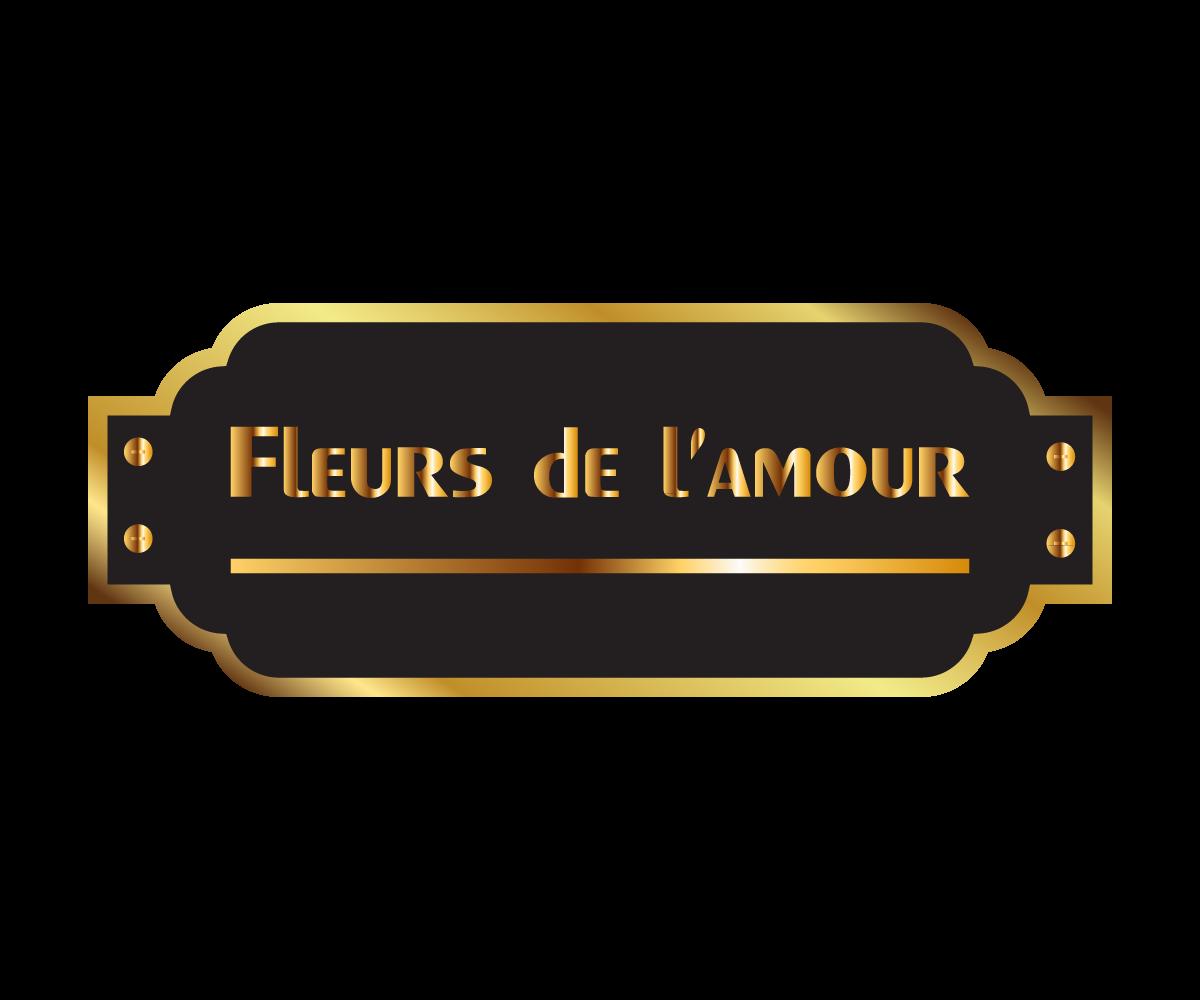 Elegant Traditional Boutique Logo Design For Fleurs De L Amour By