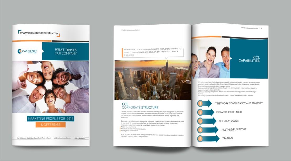 Professional elegant it company brochure design for for Design consultancy company profile